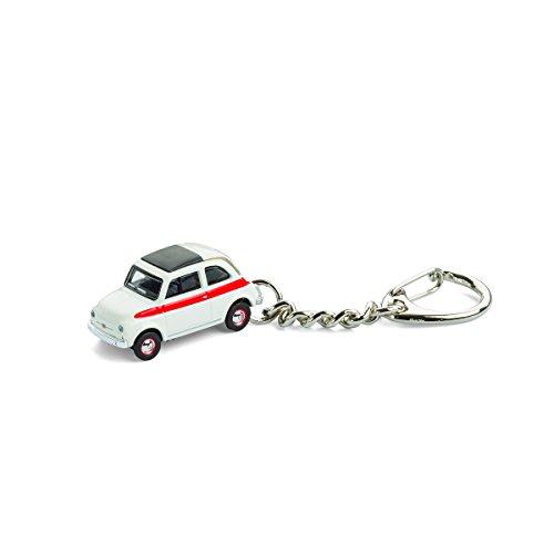 Llavero con coche en miniatura, Fiat 500 Sport, 1:87