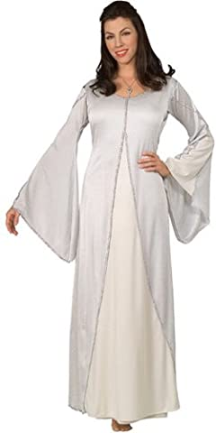 Herr der Ringe - Arwen Kostüm für Damen, edles Elben Kleid weiß, Einheitsgröße (Arwen Von Herr Der Ringe Kostüm)