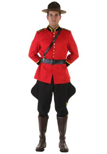 Plus Size Canadian Mountie Fancy Dress Costume - Mountie Kostüm