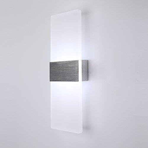 Topmo 12w lampada da parete a led applique ideale per camera da letto soggiorno scale e saloni for Applique camera da letto