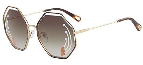 Chloé Sonnenbrillen Poppy CE132SRI Limited Edition Gold Havana/Brown Shaded Damenbrillen