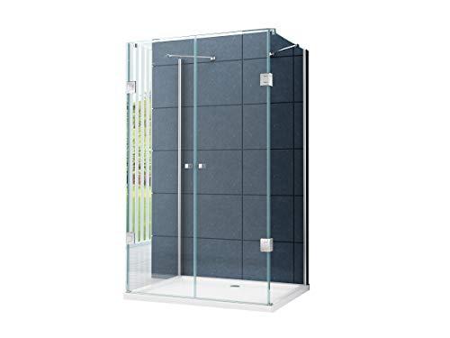 U Form Duschkabine Dusche Benito 120 x 100 x 195cm / 8 mm/ohne Duschtasse