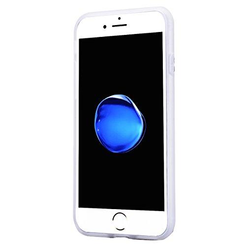 GrandEver iPhone 7 Plus Weiche Silikon Hülle Cover Silikonhülle Crystal Klar Schlank TPU Bumper Transparent Handyhülle Weich HandyTasche Flexible Ultra Slim Anti-scratch Schutzhülle Zurück Skin Backco Baum