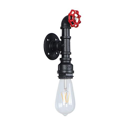 Nouvelle Creative Vent Lumière Rétro Bar Lampe Industrielle Conduite d'eau Lumières Décoration De Chevet Lampes Dortoir Étude D'éclairage Vintage Steampunk Lamping Nostalgique Luminaires,Black