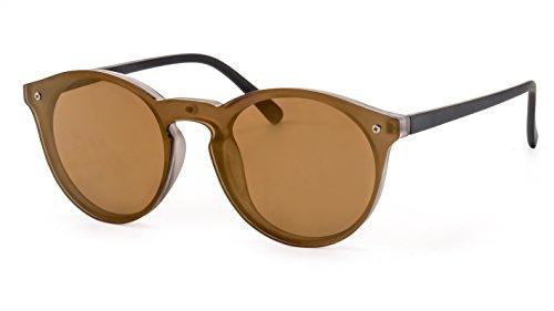 Primetta Verspiegelte Sonnenbrille/Runde Panto Sonnenbrille für Damen & Herren F2503598