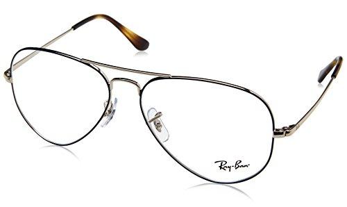 Ray-Ban Unisex-Erwachsene 0RX 6489 2970 58 Brillengestelle, Silber (Silver On Topo Blue)