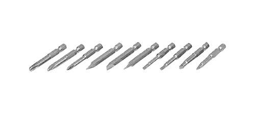 eazypower 797935,1cm Lange Hex Bit Tipps, 1, 2, 3Phillips, 6–8/8–10/10–12Schlitz, R1, R2Aussparung, T15, T20(10Pack)