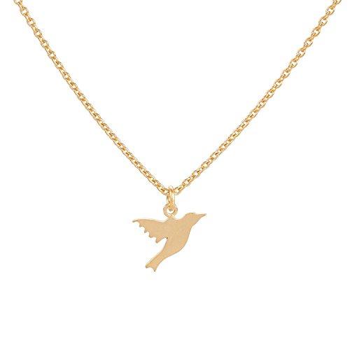 PERNILLE CORYDON Halskette Damen HUMMINGBIRD KOLIBRI Vogel-Anhänger Echtschmuck 925er Sterling Silber 18 Karat vergoldet variable Länge 40-48 cm N300g