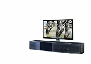 Cantilever TV Cabinet Model VR19 for LCD, LED or Plasma Screens 37,40,42,46,47,50,52,55 inch by SAMSUNG, LG, SONY, PHILIPS, TOSHIBA, PANASONIC, JVC. (Metallic Anthracite)