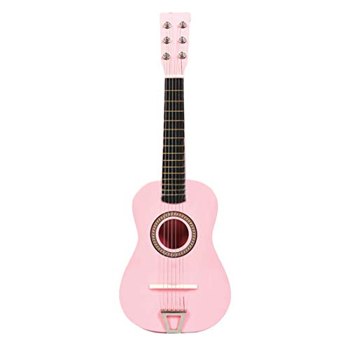 Yvsoo Guitarra Juguete 6 Cuerdas Guitarra Niños Infantil Madera Guitarra Instrumentos Musicales Educativos Simulación Juguete Regalo para Principiante (Rosa)