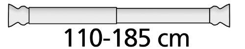 Wenko 19208100 Teleskop-Duschstange – Aluminium, Ø 2 cm, 110-185 cm, Chrom - 3