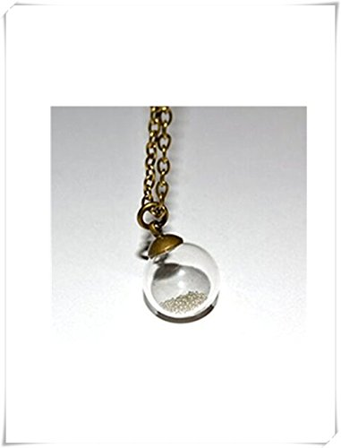 Glas Globe Halskette, Glas Ball Anhänger, Glas klar Orb, Flasche Halskette, Glas Ball klein, silber und bronze (Orb-kleiner Anhänger)