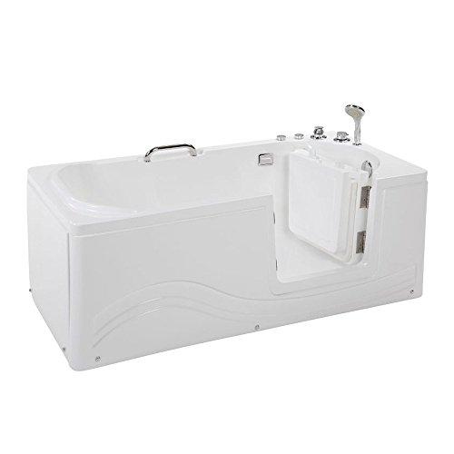 Home Deluxe - Seniorenbadewanne - Vital M rechts - Maße: 153 x 76 x 64cm - inkl. Whirlpool und komplettem Zubehör
