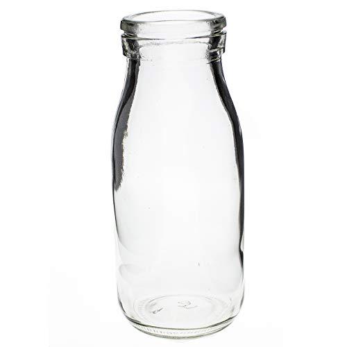 Annastore 12 x Glasflaschen im Landhausstil H 14,5 cm Glasvasen - Dekoflaschen - Glasfläschchen - Deko Flaschen Vintage - Kleine Deko Vasen (12 x Gläser)