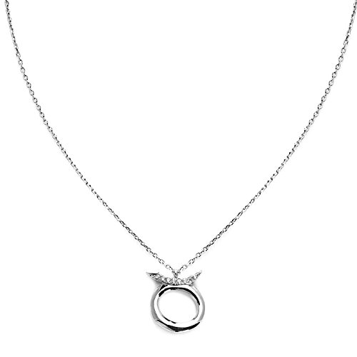 Horoscope Zodiac Taurus Elegant Fashion Silver Rhodium plated Necklace