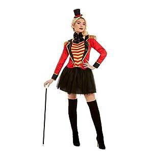 Smiffys 51049S Deluxe Ringmaster Lady Costume, Women, Red, S - UK Size 08-10