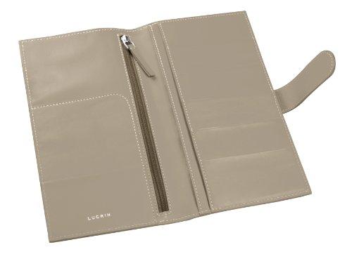 Lucrin - Portfolio Business Travel Card Case 5 CC Soft-Rindleder, Licht Taupe Gray (Gray) - PM1077_VCLS_TPC - Portfolio 5 Light