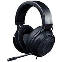 Razer Kraken Auriculares Gaming con cable para juegos multiplataforma para PC, PS4, Xbox One & Switch, Diafragma 50 mm, Cable de 3.5mm con controles de línea, Negro