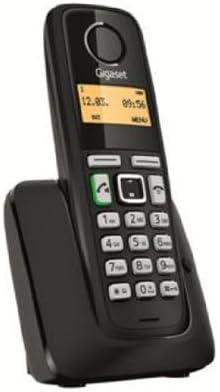 Gigaset A220 - Teléfono Inalámbrico Dect (80 contactos, 10 tonos estándar), color negro