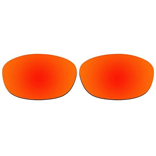 ACOMPATIBLE Ersatz-Objektive für Oakley XS Fives Sonnenbrille, Fire Red Mirror - Polarized