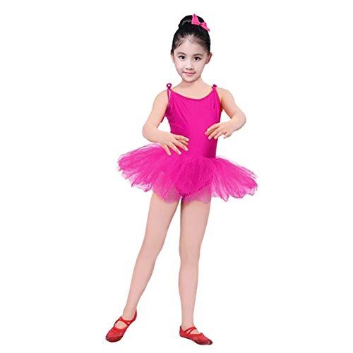 WOZOW Kind Tüllrock Spaghetti Trägerkleid Einfarbig Minirock Röckchen Unterkleid Tanzkleid Fasching Mädchen Ballettrock Cosplay Dancewear (Oder Ein Ist Yoshi Ein Junge Mädchen)