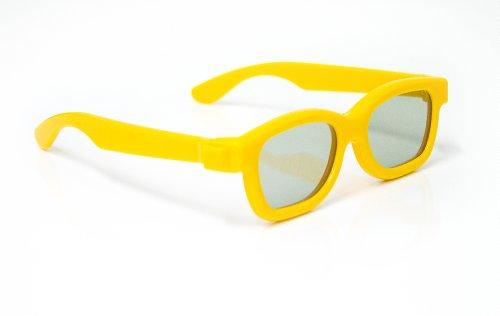 Gafas 3D para niños Universal gafas 3D pasiva para niños Cinema 3D de LG, Philips Easy 3D, Panasonic, Toshiba, Grundig y RealD cines en amarillo sobre la marca NEW