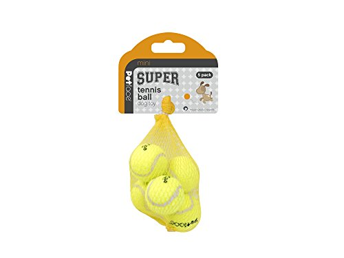 Petface Mini Super Hundespielzeug-Tennisbälle, 4cm Durchmesser, 5Stück