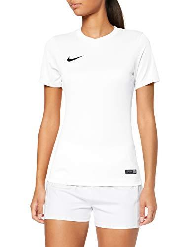 Nike Damen  Dry Team Park VI Football Jersey T-shirt, Weiß/Schwarz, M (Mesh Jersey Nike)