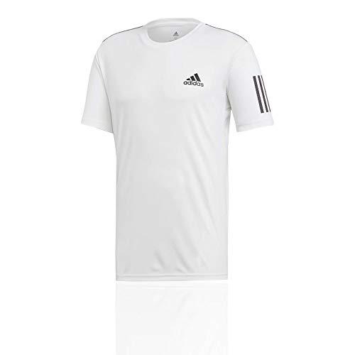 adidas Herren Club 3-Streifen T-Shirt, White/Black, M