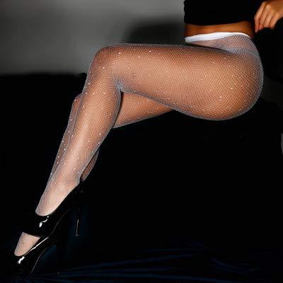 Strumpfhosen heiße Bohren Netzsocken voll von Sternen farbigen Diamant Leggings sexy Damenhosen,C