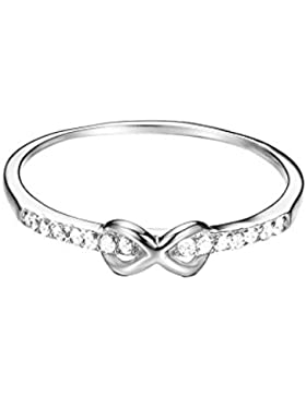 ESPRIT Damen-Ring 925 Silber rhodiniert Zirkonia transparent