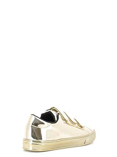Versace Jeans sneaker donna tacco basso colore oro specchio E0VOBSF3 75399  901 nuova collezione Autunno Inverno ...