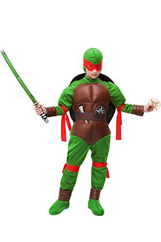 Vestito costume maschera di carnevale bambino - tartaruga ninja - taglia 6/7 anni - 107 cm
