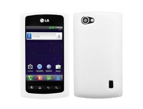 Asmyna Schutzhülle für LG Optimus Elite/Optimus M+/Optimus Plus/Optimus Quest, schlankes und weiches Design, strapazierfähig, 1 Stück, weiß