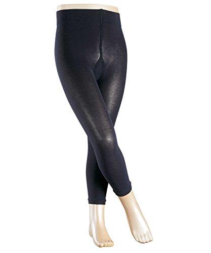 Preisvergleich Produktbild FALKE Mädchen Legging Cotton Touch, Einfarbig, Gr. 110 (Herstellergröße: 110-116), Blau (darkmarine 6170)