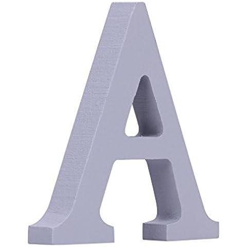 EOZY- Bianco Puro Alfabeto Ornamenti in Legno Decorazione Della Casa