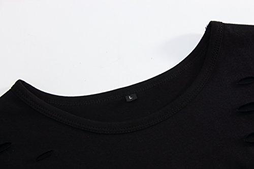 Pizoff Unisex Hip Hop Urban Basic Langes T Shirts mit Tarnmuster Y1725-Black