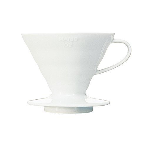 Hario VDC-02W V60 Kaffeefilterhalter, Porzellan, Größe 2, 1-4 Tassen, weiß