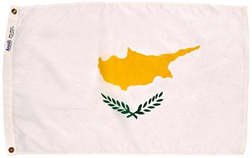 Nyl Glo Nylon (Annin flagmakers 191972Nylon solarguard nyl-glo Zypern Flagge, 2x 3')
