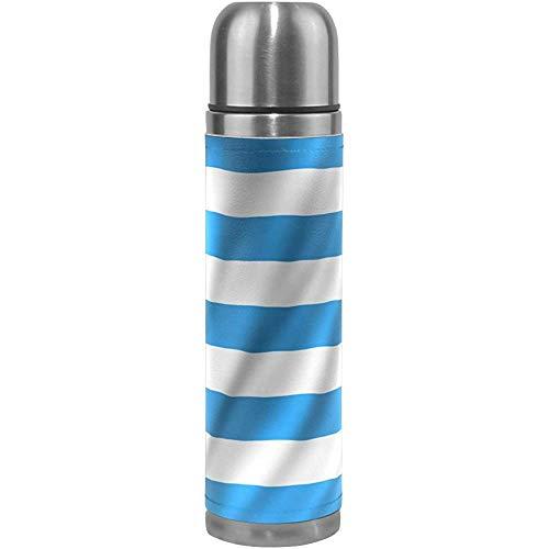 Monican Flagge der griechischen Muster-Druck-Wasser-Flaschen-Isolierflasche-Reise-Becher-Thermos-Kaffeetasse