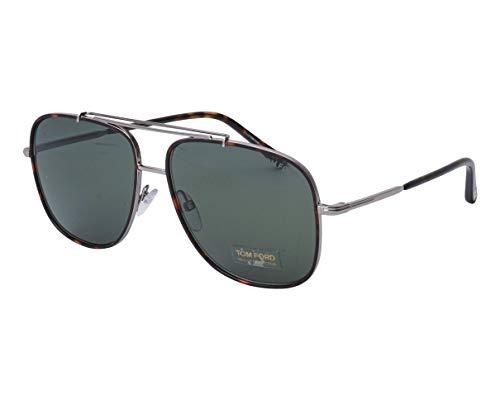 Tom Ford Sonnenbrillen Benton (TF-693 14N) havana - silber - grau-grün