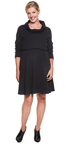 Be! Mama - Robe spécial grossesse - Manches Longues - Femme XL Schwarz