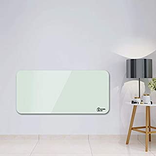 MODERN LIFE Panel Heater, 1500W Glass Wall Mounted Electric Panel Heater Radiator with Adjustable Thermostat Low Energy Convector Heater - IP24 Rated for Safety Use in Bathroom