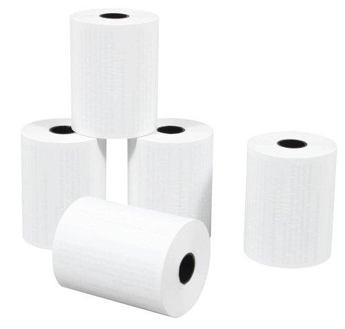 20 Thermorollen mit Lastschrifttext, weiß (Länge: 9,0 m - Breite: 5,7 cm - Hülsendurchmesser: 1,2 cm - Durchmesser 3,0 cm) EC-Cash-Rollen