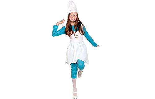 Blauer Zwerg Kostüm Gnom Mädchen Kinderkostüm 6-8 Jahre Gr. (Die Kostüme Sieben Zwerge)