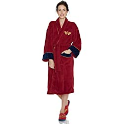Officiel Batman v Superman Wonder Woman Fleece robe de chambre Peignoir - adulte