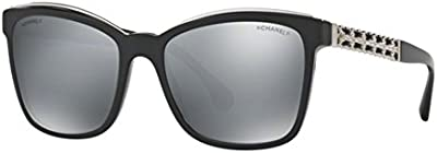 CHANEL CH5360Q C50126 OCCHIALE DA SOLE NERO BLACK SUNGLASSES SONNENBRILLE DONNA