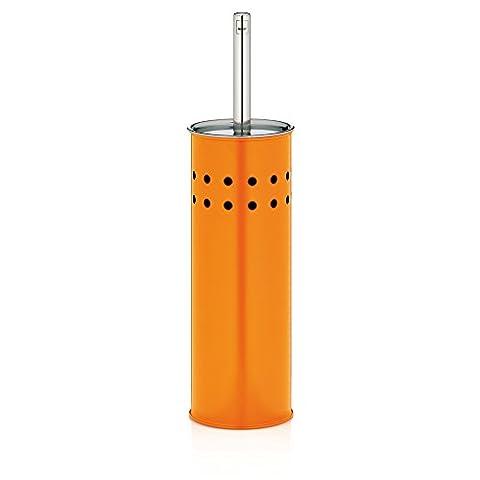 KELA 22524 WC-Bürste und Behälter, WC-Garnitur, Metall, Claro, Orange