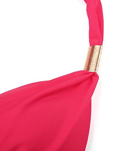 Tkiames Donne Sexy Backless Costumi Da Bagno Un Pezzo Bikini Costume da bagno Costume intero Rosso