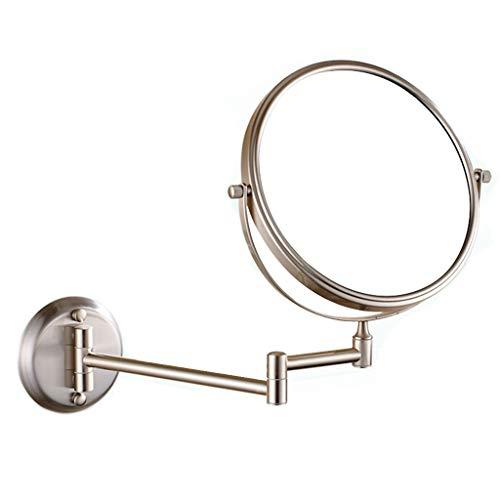 Espejos Montado En La Pared, Con 3 Aumentos De Doble Cara Redonda Cuarto De Baño Espejo De Baño Giratorio...